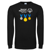 Black Long Sleeve T Shirt-Olympic Medals