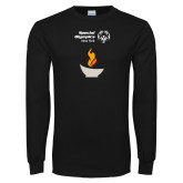 Black Long Sleeve T Shirt-Olympic Torch