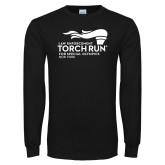 Black Long Sleeve T Shirt-Law Enforcement Torch Run