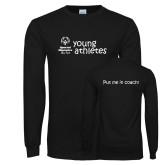 Black Long Sleeve T Shirt-Young Athletes Shirt Front