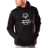 Under Armour Black Armour Fleece Hoodie-Primary Mark Vertical