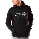 Under Armour Black Armour Fleece Hoodie-Primary Mark Horizontal