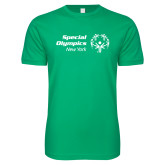 Next Level SoftStyle Kelly Green T Shirt-Primary Mark Horizontal