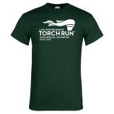 Dark Green T Shirt-Law Enforcement Torch Run