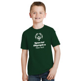 Youth Dark Green T Shirt-Primary Mark Vertical