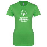 Next Level Ladies SoftStyle Junior Fitted Kelly Green Tee-Primary Mark Vertical