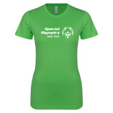 Next Level Ladies SoftStyle Junior Fitted Kelly Green Tee-Primary Mark Horizontal