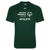 Under Armour Dark Green Tech Tee-Athlete