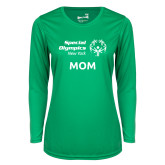 Ladies Syntrel Performance Kelly Green Longsleeve Shirt-Mom