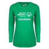 Ladies Syntrel Performance Kelly Green Longsleeve Shirt-Grandma