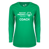 Ladies Syntrel Performance Kelly Green Longsleeve Shirt-Coach
