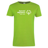 Ladies Lime Green T Shirt-Primary Mark Horizontal