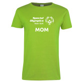 Ladies Lime Green T Shirt-Mom