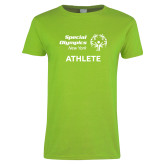 Ladies Lime Green T Shirt-Athlete