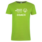 Ladies Lime Green T Shirt-Coach