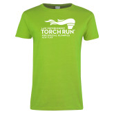 Ladies Lime Green T Shirt-Law Enforcement Torch Run