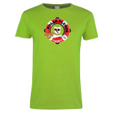 Ladies Lime Green T Shirt-Polar Plunge