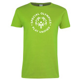 Ladies Lime Green T Shirt-Play Unified