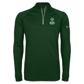 Under Armour Dark Green Tech 1/4 Zip Performance Shirt-Primary Mark Vertical