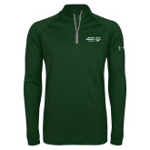 Under Armour Dark Green Tech 1/4 Zip Performance Shirt-Primary Mark Horizontal