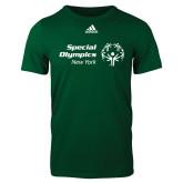 Adidas Dark Green Logo T Shirt-Primary Mark Horizontal
