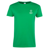 Ladies Kelly Green T Shirt-Primary Mark Vertical