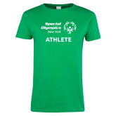 Ladies Kelly Green T Shirt-Athlete