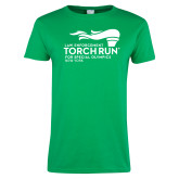 Ladies Kelly Green T Shirt-Law Enforcement Torch Run