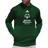 Adidas Dark Green Team Issue Hoodie-Primary Mark Vertical