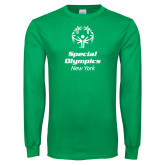Kelly Green Long Sleeve T Shirt-Primary Mark Vertical