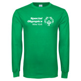 Kelly Green Long Sleeve T Shirt-Primary Mark Horizontal