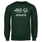 Dark Green Fleece Crew-Athlete