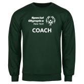 Dark Green Fleece Crew-Coach
