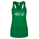 Next Level Ladies Kelly Green Ideal Racerback Tank-Primary Mark Horizontal