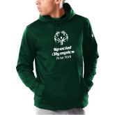 Under Armour Dark Green Armour Fleece Hoodie-Primary Mark Vertical