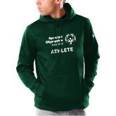 Under Armour Dark Green Armour Fleece Hoodie-Athlete