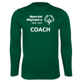 Performance Dark Green Longsleeve Shirt-Coach
