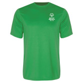Performance Kelly Green Tee-Primary Mark Vertical