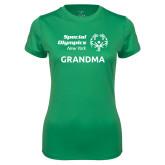 Ladies Syntrel Performance Kelly Green Tee-Grandma