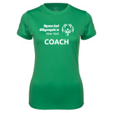 Ladies Syntrel Performance Kelly Green Tee-Coach