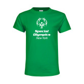 Youth Kelly Green T Shirt-Primary Mark Vertical