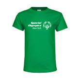 Youth Kelly Green T Shirt-Primary Mark Horizontal
