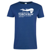 Ladies Royal T Shirt-Law Enforcement Torch Run