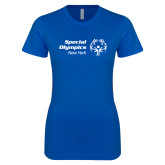 Next Level Ladies SoftStyle Junior Fitted Royal Tee-Primary Mark Horizontal