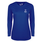 Ladies Syntrel Performance Royal Longsleeve Shirt-Primary Mark Vertical