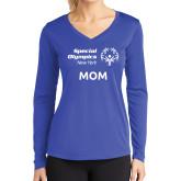 Ladies Syntrel Performance Royal Longsleeve Shirt-Mom
