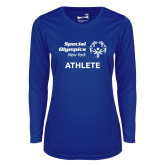 Ladies Syntrel Performance Royal Longsleeve Shirt-Athlete