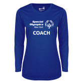 Ladies Syntrel Performance Royal Longsleeve Shirt-Coach