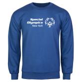 Royal Fleece Crew-Primary Mark Horizontal