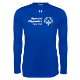 Under Armour Royal Long Sleeve Tech Tee-Primary Mark Horizontal